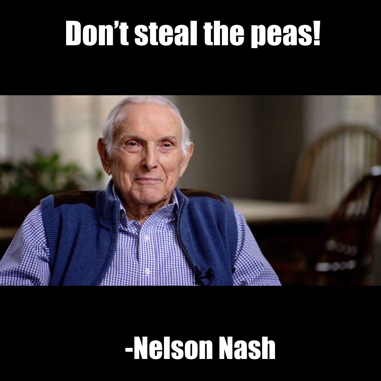 Don't steal the peas
