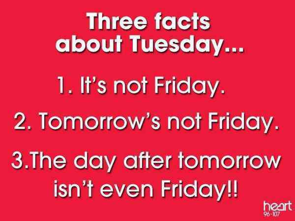 Three facts about Tuesday